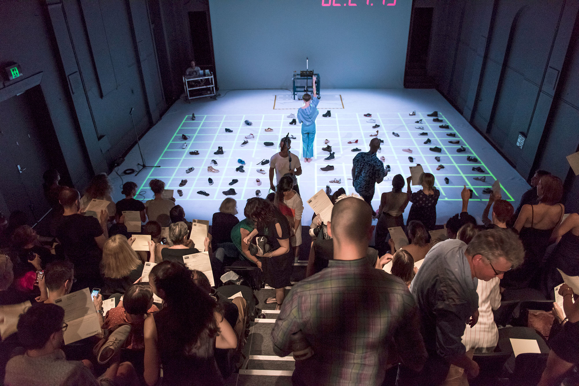 Audience and performers in Branch Nebula's STOP-GO, at Keir Choreographic Award, Melbourne