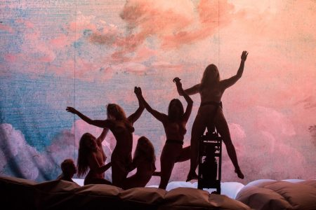 Silhouetted women in Florentina Holzinger's Apollon.