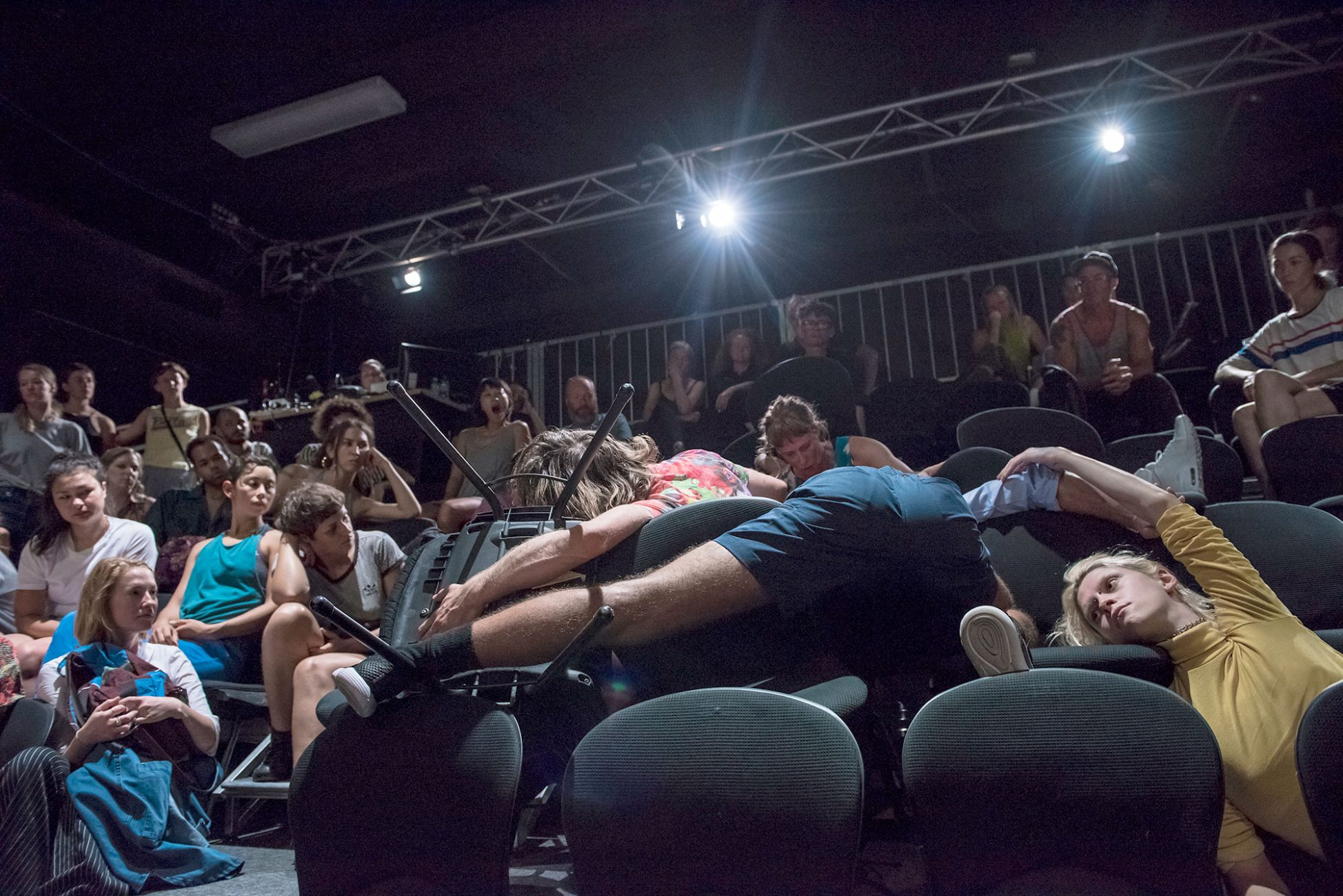 Audience and performers mix in Luke George's Public Action at Keir Choreographic Award