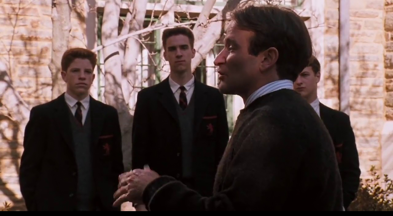 Conformity scene from Dead Poets Society