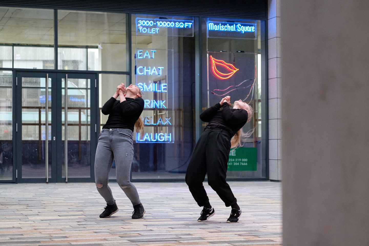 Katie Milroy's Curated Moments, at Marischal Square Aberdeen.
