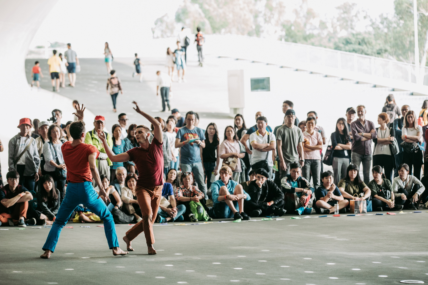 Photo of The outdoor section of Yuval Pick's Hydra, Taiwan Dance Platform 2018