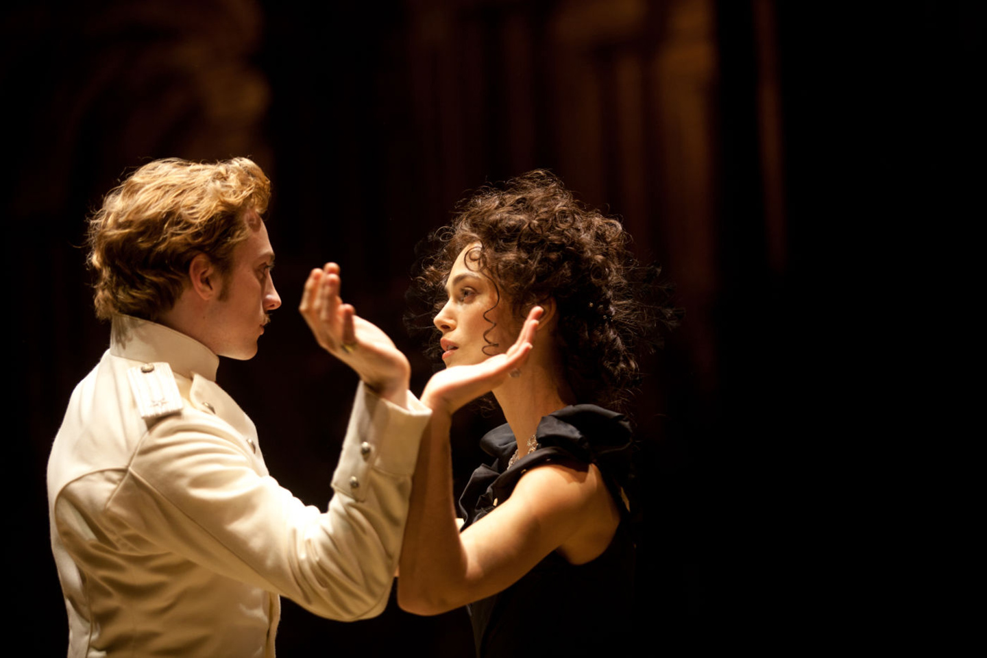 Keira Knightley and Aaron Taylor-Johnson in Joe Wright's Anna Karenina