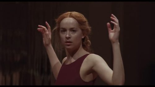Susie (Dakota Johnson) in the first dance scene from Luca Guadgnino's Suspiria (2018)