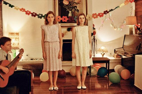 The three children begin their dance performance in Yorgos Lanthimos's 2009 Dogtooth