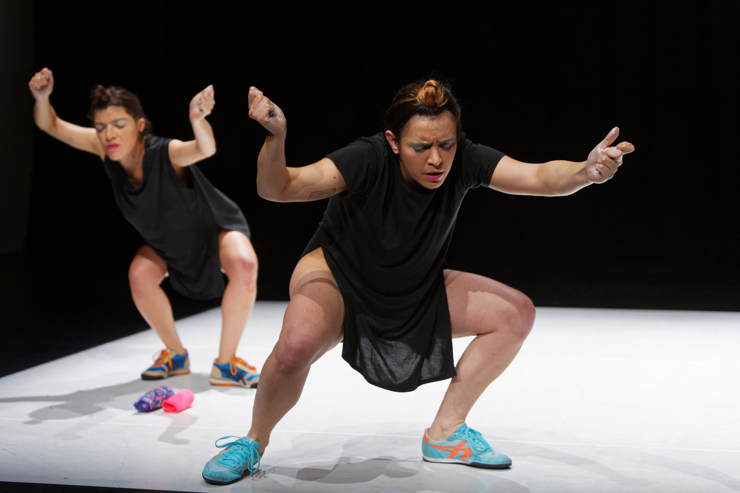 Blink – but don't miss it. Michelle Moura and Clara Saito.